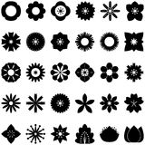 Collection of flower icons. Vector, flat icon on white background Royalty Free Stock Images