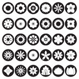Collection of flower icons Stock Images