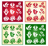Collection of flowers. The stylized flowers in different options vector illustration