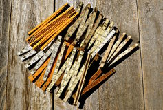 Collection of folding rulers Royalty Free Stock Photo