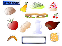 Collection of food Stock Image