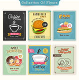 Collection of Food and Drinks flyers. Royalty Free Stock Photography