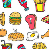 Collection of food element doodles Royalty Free Stock Photography