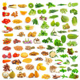Collection of food  on white Stock Photos