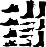 Collection of footwears Royalty Free Stock Photos