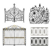 Collection of forged gates and decorative lattice Royalty Free Stock Photography