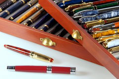 Collection of fountain pens Royalty Free Stock Image
