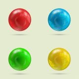 Collection of four balls Royalty Free Stock Photos