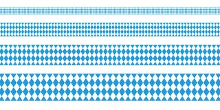 Four Banner Oktoberfest Straight Diamond Pattern royalty free illustration