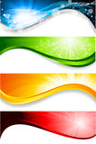 Collection of four  banners Stock Photography