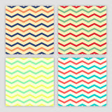 Collection of Four Chevron Seamless Patterns Royalty Free Stock Photography