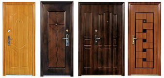 Collection of four closed doors Stock Image