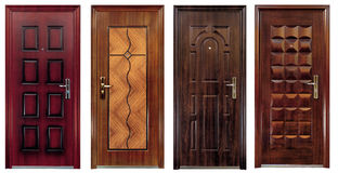 Collection of four closed doors Stock Images