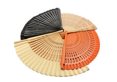 Collection of four colored fans Royalty Free Stock Photography
