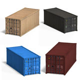 Collection of four container Royalty Free Stock Image