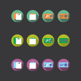 Collection of four different colored icons Royalty Free Stock Images