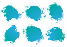 Collection of four ink splats Royalty Free Stock Photos