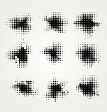 Collection of four ink splats Royalty Free Stock Image
