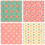 Collection of four retro different vector seamless patterns Stock Image