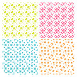 Collection of four simple geometric vector seamless patterns Royalty Free Stock Photos