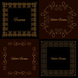 Collection of four stylish elegant frame Royalty Free Stock Images