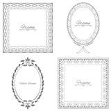 Collection of four stylish elegant frame Royalty Free Stock Photos