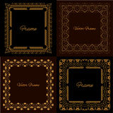 Collection of four stylish elegant frame Stock Photo