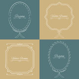 Collection of four stylish elegant frame Stock Photography