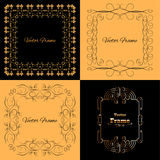 Collection of four stylish elegant frame Royalty Free Stock Photography