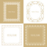 Collection of four stylish vintage frame Royalty Free Stock Photography