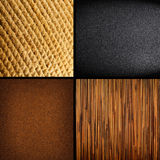 Collection of four textures backgrounds Stock Photo