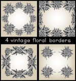 Collection Of Four Vintage Frames With Roses Stock Images