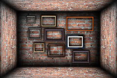 Collection of frames in abstract backdrop Stock Image