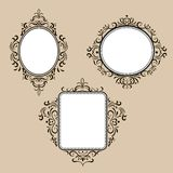 Collection of frames in retro style Royalty Free Stock Photo