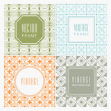 Collection of frames with seamless pattern. Stock Photo