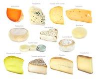 Collection française de fromage Photographie stock libre de droits
