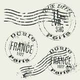 Collection of french vintage stamps Stock Photo