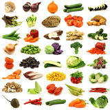 Collection of fresh and colorful vegetables. On a white background Stock Image