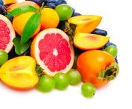 Collection fresh fruit stock photos