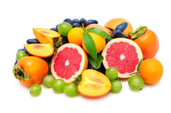 Collection fresh fruit royalty free stock images