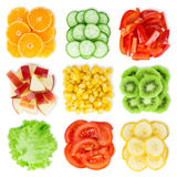 Collection of fresh fruit and vegetable Royalty Free Stock Photos