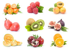Collection of fresh fruits Royalty Free Stock Photos