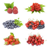 Collection of fresh fruits Stock Photo