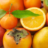 Collection of fresh fruits Royalty Free Stock Photography