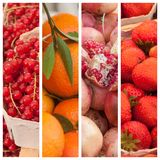 Fresh fruits at the market background Royalty Free Stock Photos