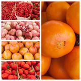 Fresh fruits at the market background Stock Image