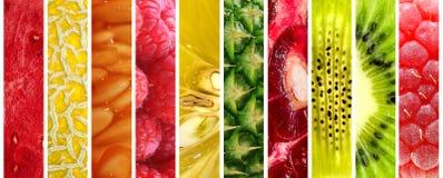 Collection of fresh fruits Stock Photos