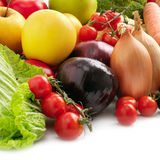 Collection fresh fruits and vegetables Royalty Free Stock Photo
