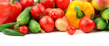 Collection fresh fruits and vegetables Royalty Free Stock Photography