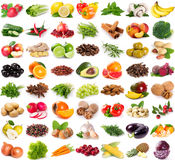 Collection of fresh fruits and vegetables Stock Image